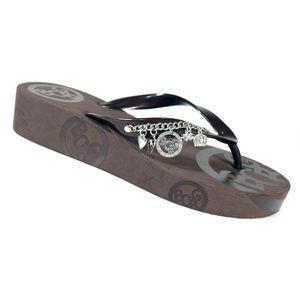 BCBG Girls French Wedge Charm Flip Flop Sandals 10